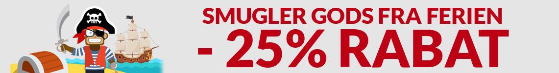 Smugler Gods Fra Ferien - Ingen MOMS -25% i Rabat