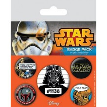 Star Wars Badges Old School 5 Stk.