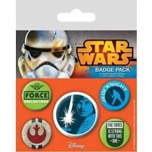 Star Wars Badges Jedi 5 Stk.