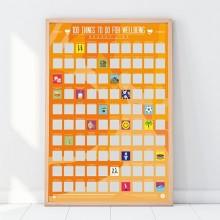 Välbefinnande Scratch off Bucket List