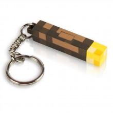 Minecraft 3D Torch Lommelygte