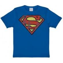 Superman Logo T-shirt Børn Blå