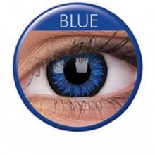 Farvede linser glamour blå