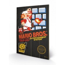 SUPER MARIO BROS. (NES COVER) CANVAS PRINT