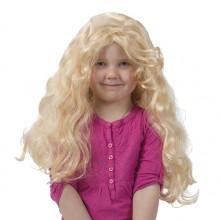Krøllet Paryk Blond Barn