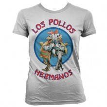 Breaking Bad Los Pollos Hermanos Dame T-Shirt Hvid