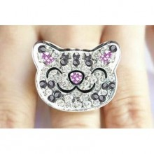 The Big Bang Theory Soft Kitty Krystal Ring