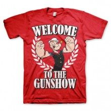 Popeye - Welcome To The Gunshow T-Shirt Rød