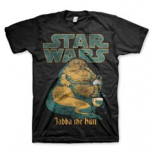 Star Wars Jabba The Hutt T-Shirt Sort