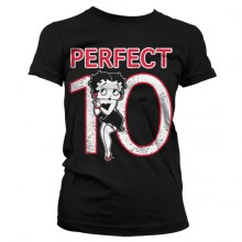 Betty Boop Perfect 10 Girly T-Shirt Sort