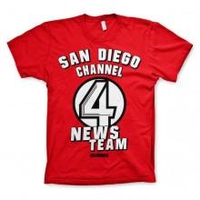 San Diego Channel 4 T-Shirt Rød