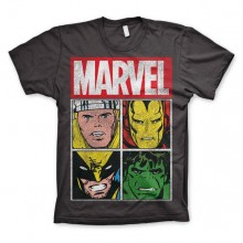 Marvel Distressed Characters T-Shirt Mørkegrå