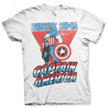 Captain America Since 1941 T-Shirt Hvid