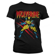Wolverine Scratches Girly T-Shirt Sort