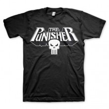 The Punisher Logo T-Shirt Sort