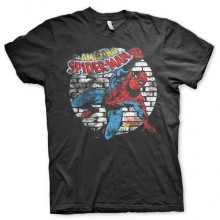 Distressed Spider-Man T-Shirt Sort