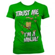 TMNT - Trust Me, I´m A Ninja Girly T-Shirt Grøn