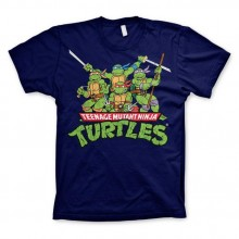 TMNT - Distressed Group T-Shirt Mørkeblå