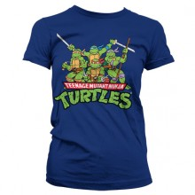 TMNT - Distressed Group Girly T-Shirt Mørkeblå