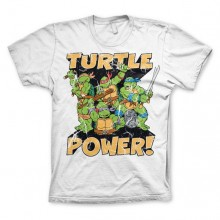 TMNT - Turtle Power! T-Shirt Hvid