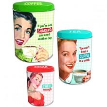 Bøttesæt Coffee Tea Sugar