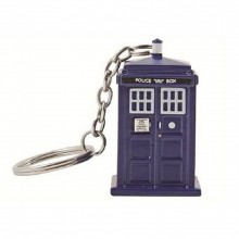 Doctor Who Tardis Lommelygte Nøglering