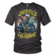 Justice League Team - Mørkegrå T-Shirt
