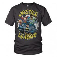 Justice League Team - Mørkegrå T-Shirt