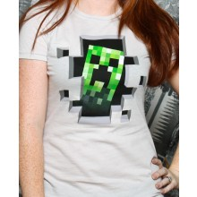 Minecraft Creeper Inside Dame T-Shirt