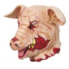 Blodigt grisehoved Maske