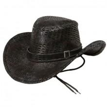 Cowboyhat Sort Slangeskin