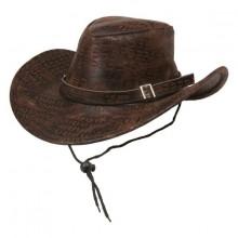 Cowboyhat Brun Slangeskin