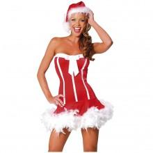 Sexet Santa Girl Fastelavndragt