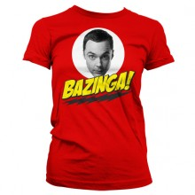 Big Bang Theory Sheldon Bazinga Dame T-Shirt