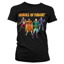 The Big Bang Theory - Heroes In Theory Dame T-shirt