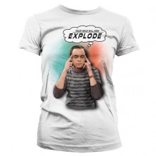 Sheldon - Your Head Will Now Explode Dame T-shirt