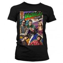 Big Bang Theory - Bazinga Comic Cover Dame T-Shirt