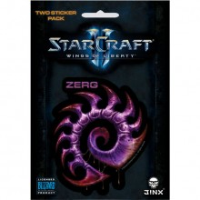 Starcraft II Zerg Klistermærke 2-pack