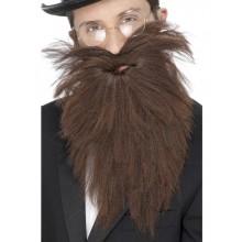Langt Skæg Med Moustache Brun