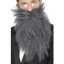 Langt Skæg Med Moustache Grå