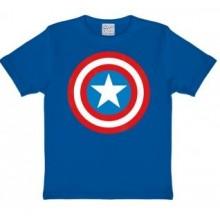 Marvel Captain America Skjold T-shirt Børn Blå