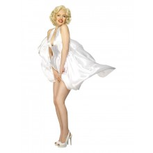 "Marilyn Monroe Vit Ikonisk Klänning ""The Seven Year Itch"""