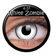 Farvede linser crazy zombie-hvid