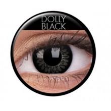 Farvede linser big eyes dolly black