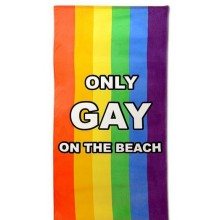 Only Gay On The Beach Håndklæde