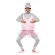 Ballerina Flodhest Kostume