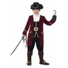 Piratkaptajn Børnekostume Deluxe