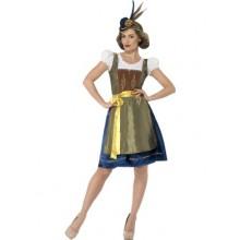 Traditionelt Bayersk Oktoberfest Heidi-Kostume Deluxe