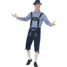 Oktoberfest Traditionelt Kostume BlÅT Deluxe