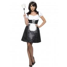 Frenchmaid Kostume Med Kjole